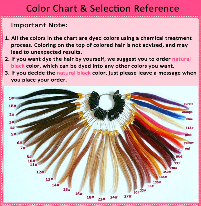 Color Chart & Selection Reference