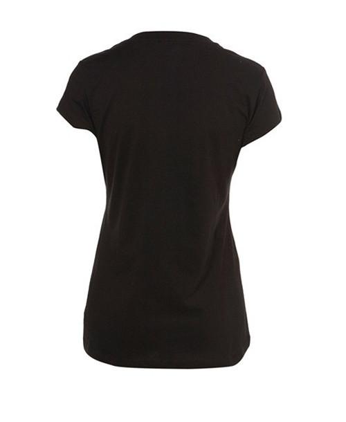 Мода для женщин Банни череп круглый вырез графический футболка Черная футболка Топ