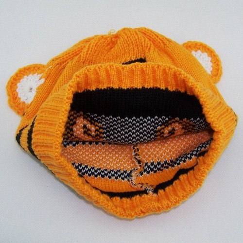 Retail Baby tiger hats crochet hat animal design Детский tiger beanies infant Вязанный caps toddler cap 1pc H001