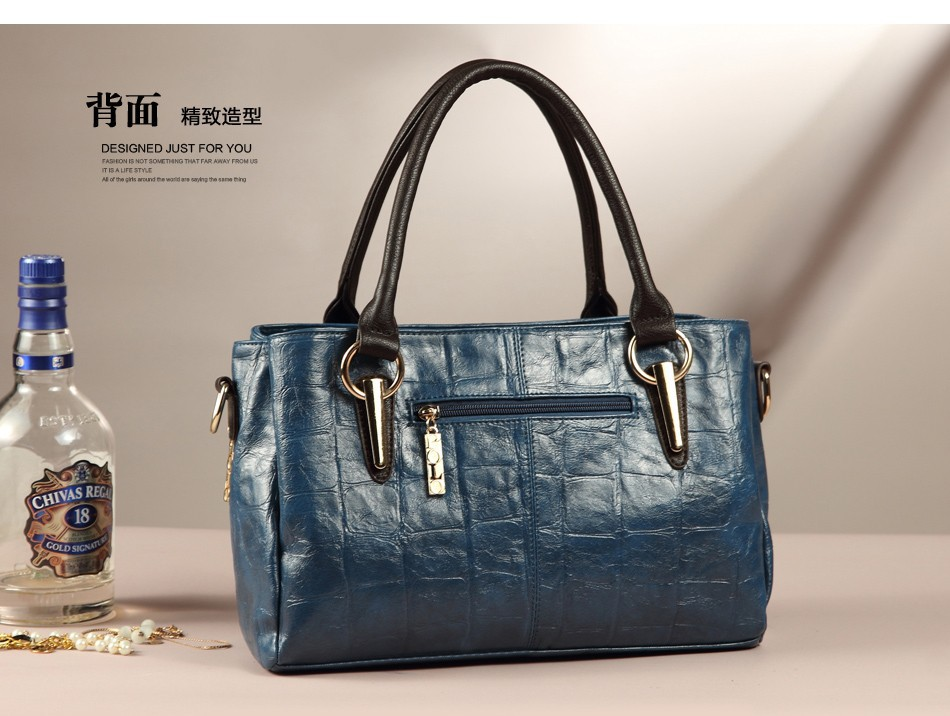 2014 Fashion Designer Brand Handbags Cowhide Genuine Leather Bags For