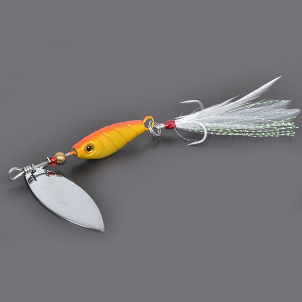 Free shipping spinner bait lures trulinoya spirit spinner for Spinner fishing lures