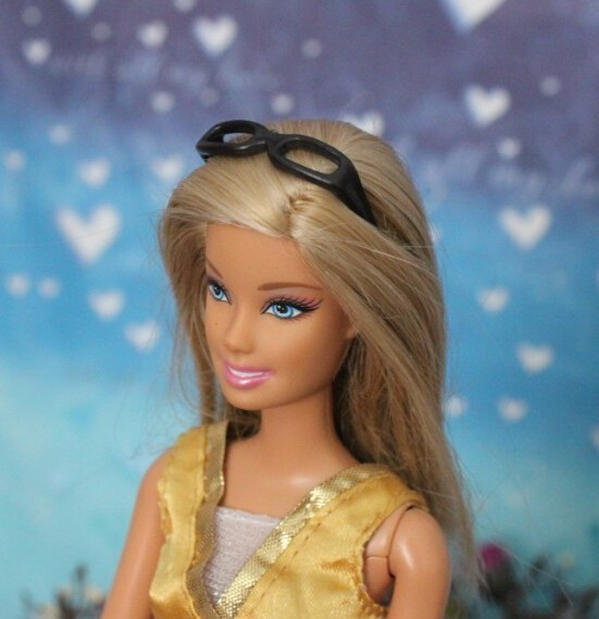 Free transport wholesales 200items/lot black shade glasses for barbie doll