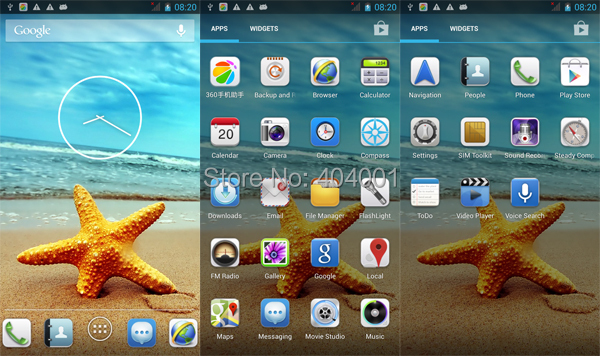 processor efficient inew v3 quad core 5 inch dual sim 16gb ultrathin smartphone android 4 4 tiltable camera Flood-It