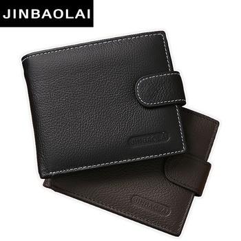 JINBAOLAI Genuine Leather Men Wallets Purse Money Bag Fashion Male Wallet Card Holder Coin Purse Wallet Men carteira Card Holder