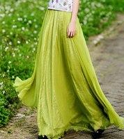 новые моды лета женщина юбка одежда долго случайные женские Весна Юбки шифоновые одежды женщин saias femininas плюс размер