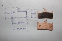 велосипедов спеченные тормозные колодки для shimano xt/xtr гидравлические & grimeca системы 8 «cleg суппорта» надеюсь sh801s моно m4