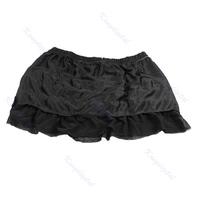 M112 «женщины девушки сладкий кружева чистой торт shaqun рубашка платье черный