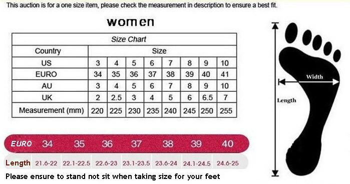pro keds sizing chart