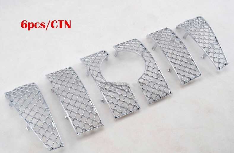 6PCS Car ABS Painting Insect Screening Front Grille For Toyota Land Cruiser Prado FJ 150 2014