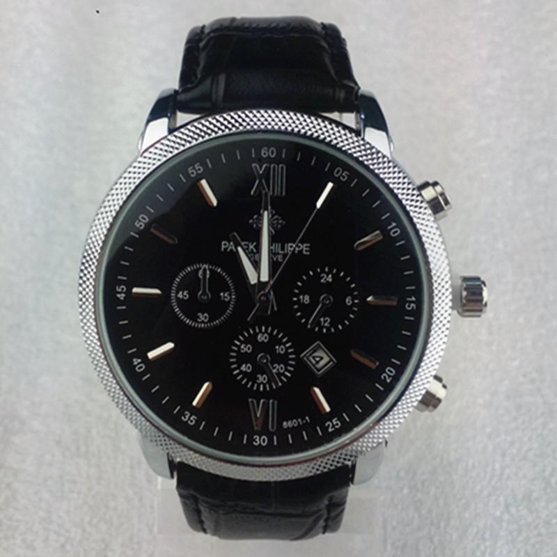 Бесплатная доставка новой моды досуг бизнес 3 основные декоративные кожаные ремешок смотреть кварцевые часы человека