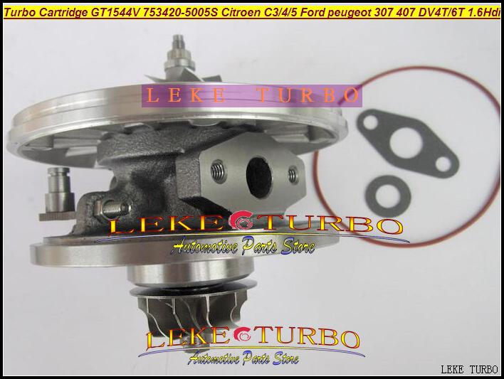 TURBO Cartridge CHRA OF GT1544V 753420-5005S For CITROEN C3 C4 C5 FORD PEUGEOT 307 407 DV4T DV6T 1.6L Hdi turbocharger (5)