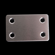 Stainless steel Corner Brackets Plane angle Flat code connecting Fixed film Thickening splice 20pcs(China (Mainland))