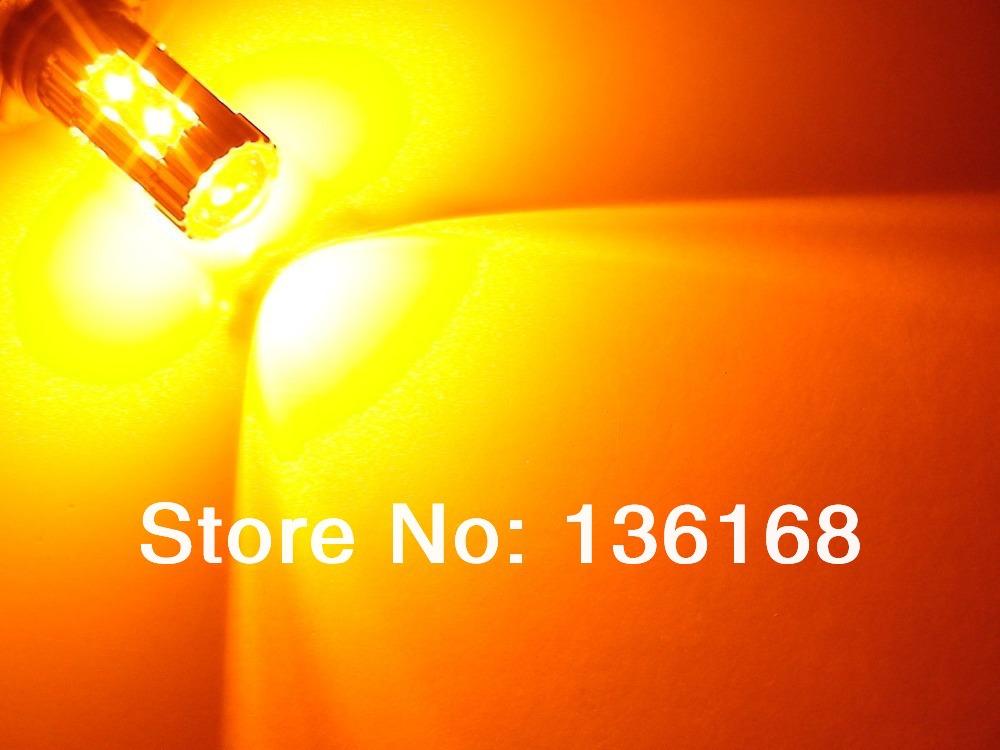 Free Shipping TWO Amber Orange 50W High Power 10x Cree XP-E 9006 9012 HB4 Fog Lights bulbs(China (Mainland))