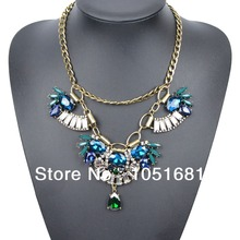 Europe and the gorgeous fashion crystal necklace necklaces and pendants, rhinestone necklace women women's fashion necklace(China (Mainland))