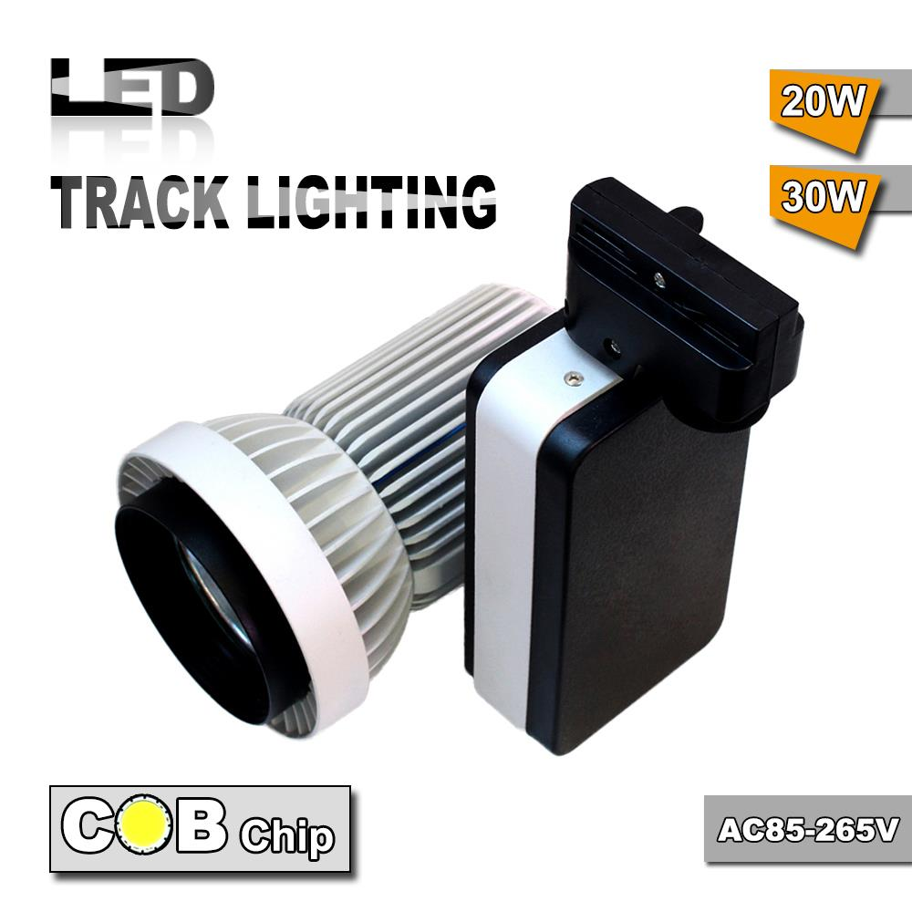 2015 new product 20W COB track light led AC85~265V black add white body decorative cloth store led spot track lighting(China (Mainland))