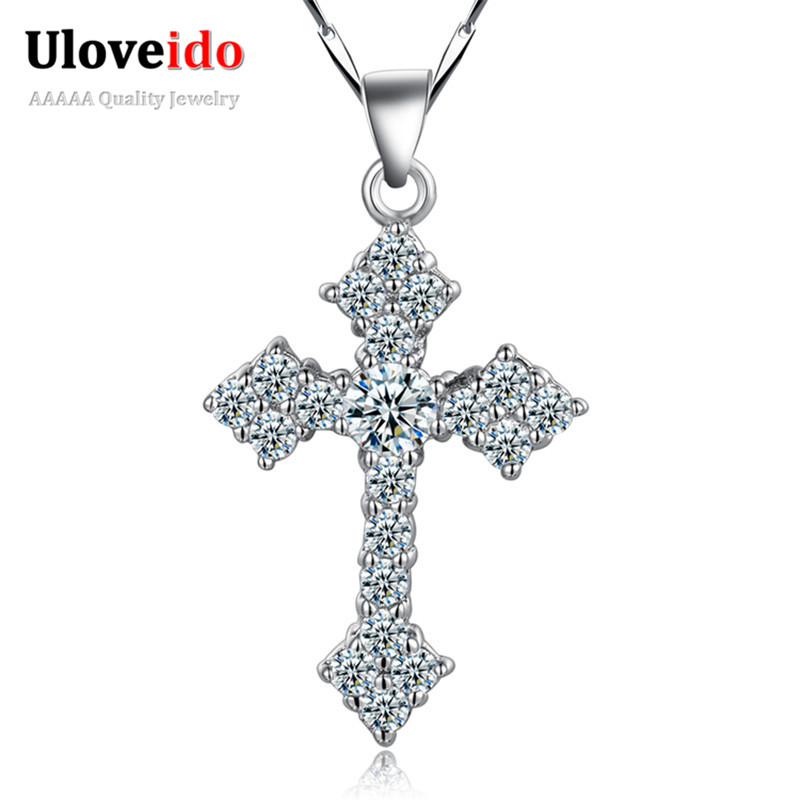 50 off 2016 Silver Plated Necklace for Men Women with Chain Jewelry Necklaces Pendants Christmas Gift