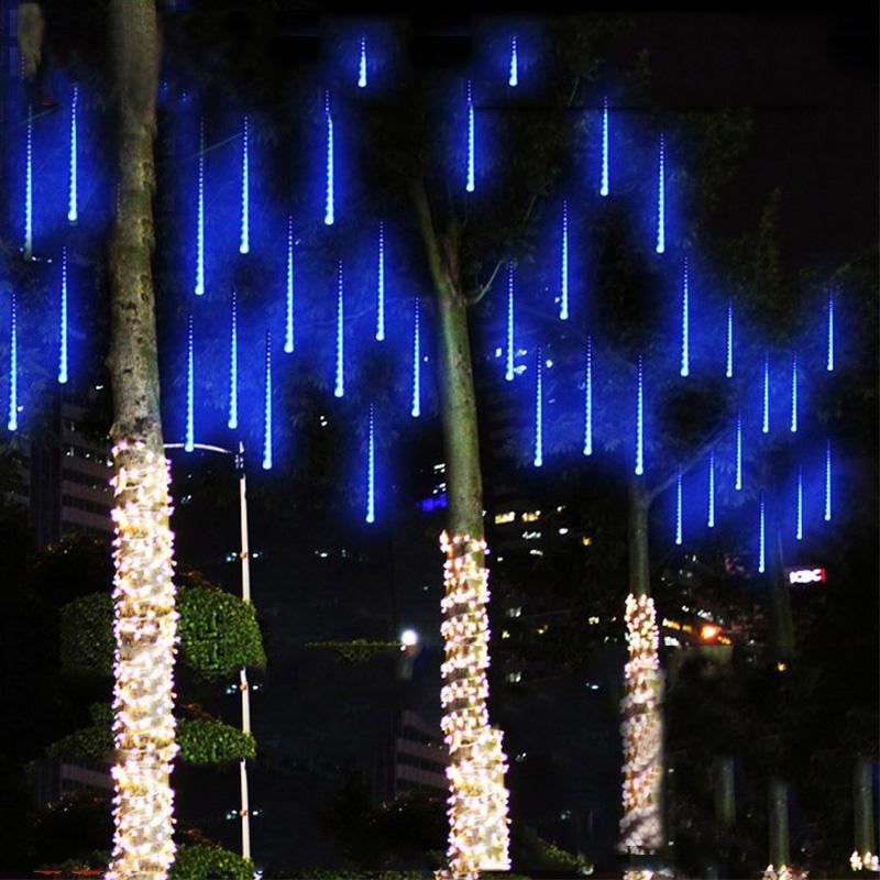 50cm &Meteor Shower Rain Tubes Christmas String Light Tree Decoration Led Lamp 100-240V EU US Plug with connector Holiday Light(China (Mainland))