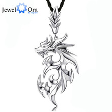 Dragon Shape Accessories Necklaces & Pendants For Men New 2016 Fashion Silver Jewelry Necklace(Jewelora NE101104)(China (Mainland))