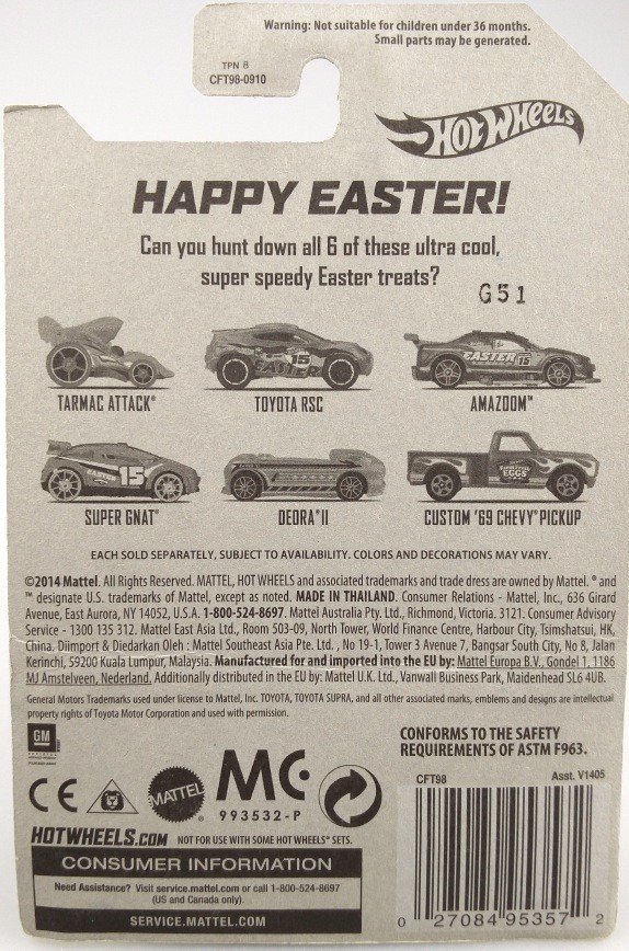 1:64 HotWheels Die-casts Completely satisfied Easter! CUSTOM 69 CHEVY PICKUP/Toy/Mannequin Automobile 6/6 7cm