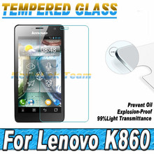 100pcs/lot 0.26MM 2.5D Explosion Proof Toughened Glass Protective Film For Lenovo K860 Screen Protector Tempered Glass Film(China (Mainland))