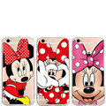 Cute Cartoon Mickey Minnie Mouse Women Cell Phone Cases For iPhone 7 SE 5 5S 6s