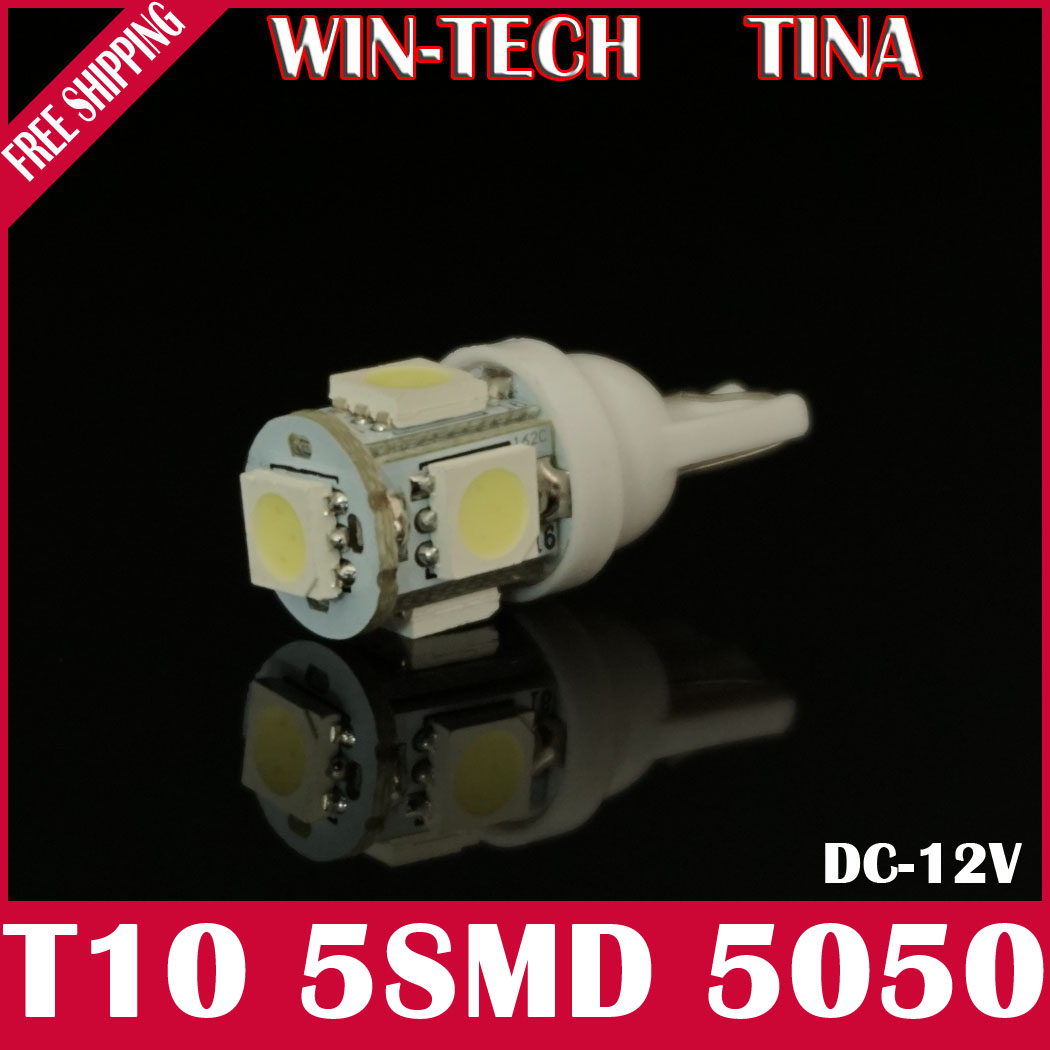 Freeshipping 1 T10 5SMD 5050 car side light,4 colors led lighting,auto light lamp 194 w5w parking signal - TINA LED Lighting Factory store