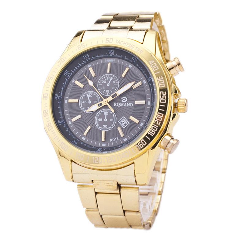 New Fashion Watch Men Luxury Steel Band Complete Calendar Business Casual Quartz Wristwatch High Quality Elegant Masculino Clock<br><br>Aliexpress