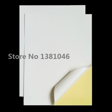 10 Sheets A4 Size Matte White Self Adhesive Blank Paper Sticker Shipping Label For Ink Jet Printer(China (Mainland))