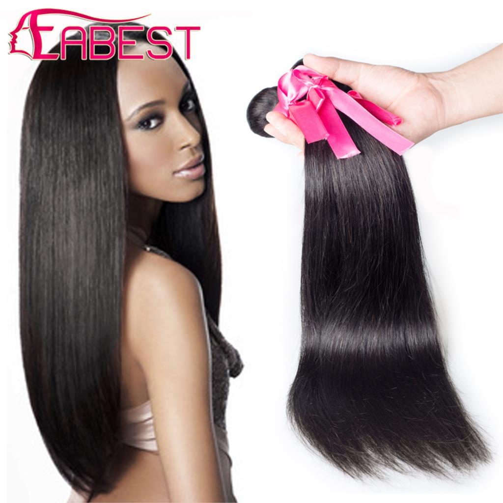 Each Best Hair Peruvian Straight #1B Natural Color Grade 7a 100% Human Virgin Hair Weave No Shedding Tangle Free(China (Mainland))