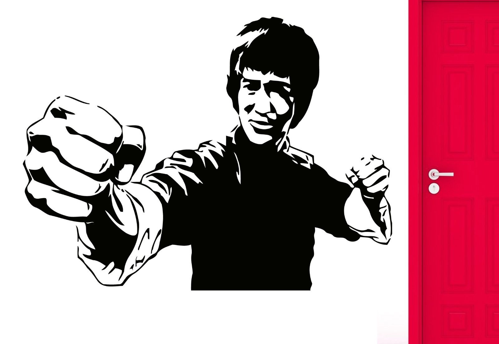 children kids boys' roomWall Sticker Movie Star Jackie Chan Martial Arts Karate Cool Cool Decor free shipping(China (Mainland))
