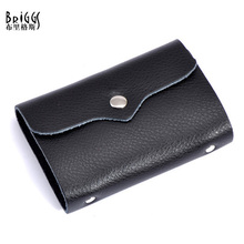 26 Card Place 100% Cow Genuine Leather Card holder Business Porte Carte Credit Women&Men's Name Bank Credit Card Holder Wallet(China (Mainland))
