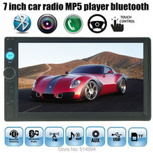 7 inch Bluetooth Car MP4 MP5 Player HD Touch Screen Handsfree TFT Car Audio Video FM USB TF AUX IN 2 DIN size(China (Mainland))