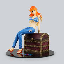 Anime One Piece Sexy Nude Nami treasure chest bra removable POP Sailing Again PVC Action Figure Collection Model Kids Toy Doll
