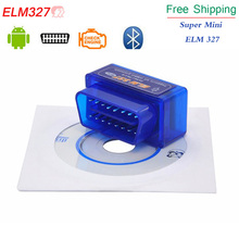 2017 V2.1 Super Mini ELM 327 Bluetooth Interface Auto OBD2 Diagnostic Scanner Tool Mini ELM327 Works On Android free shipping(China (Mainland))