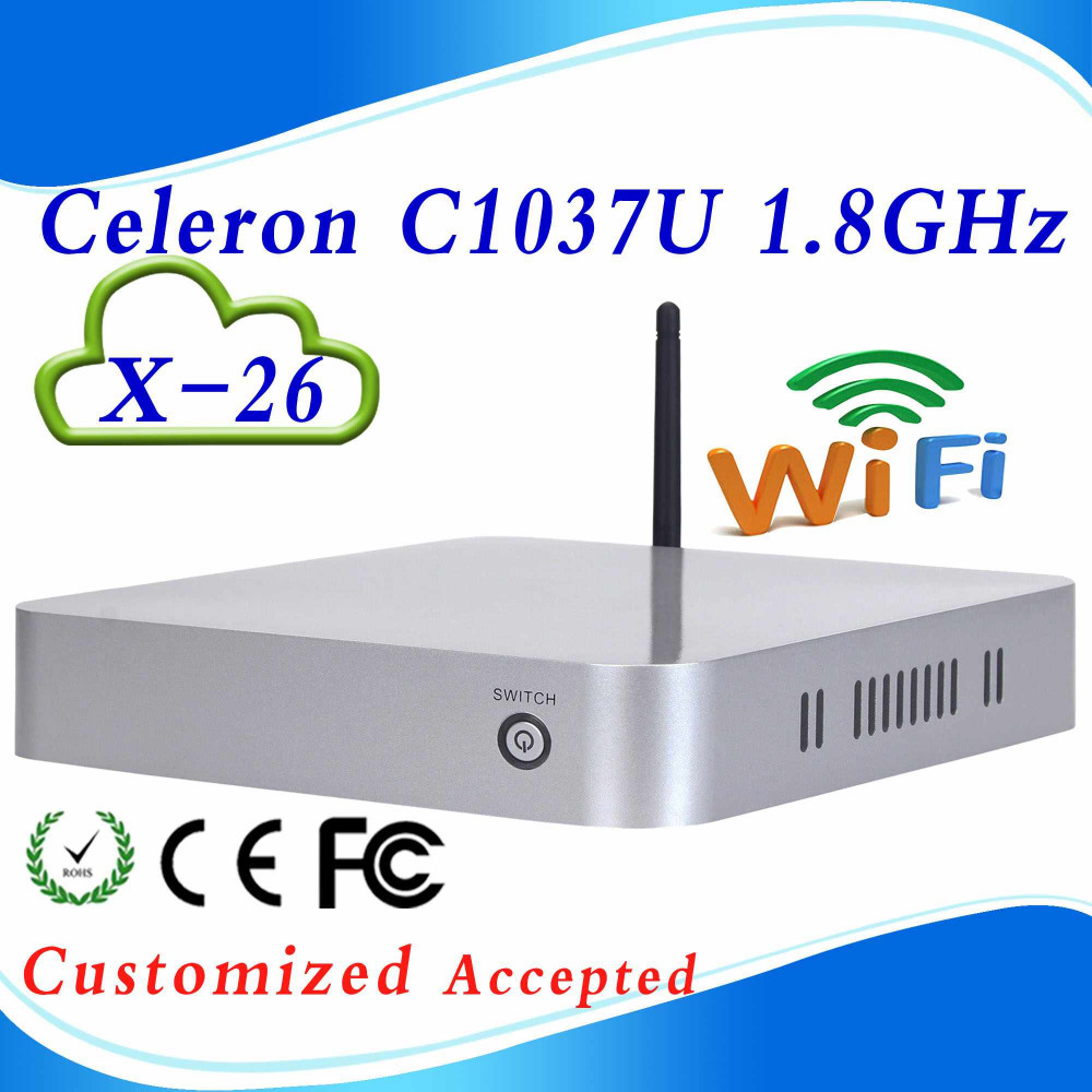 X-26 C1037U Celeron1.8GHz dual core computer thin client mini pc computer htpc good quality support LINUX/Ubuntu(China (Mainland))