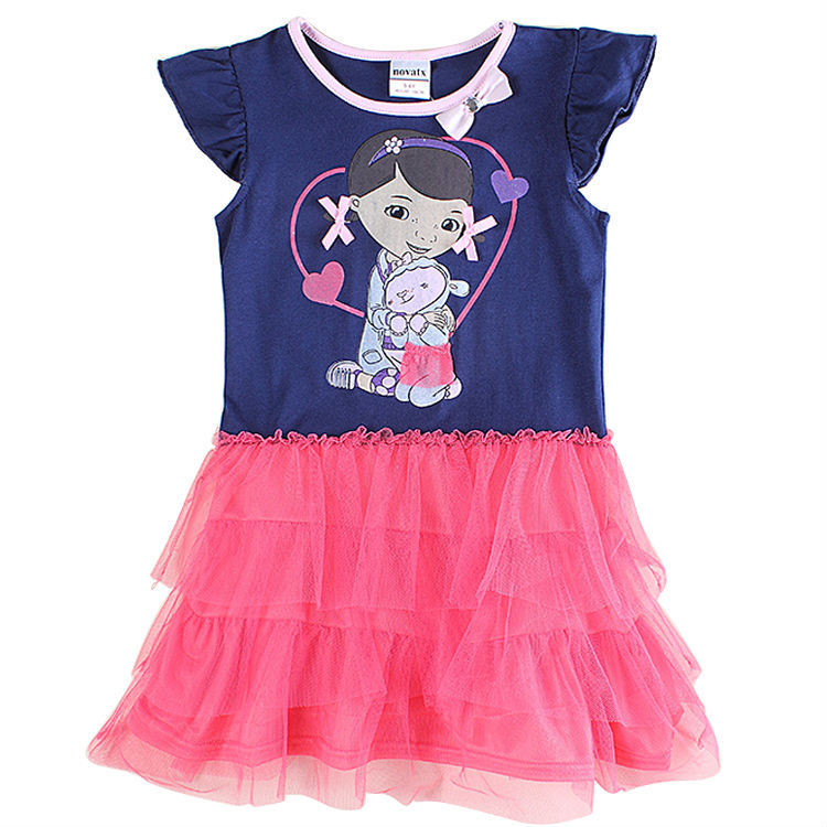 5 pcs/lot baby Girl dress summer style girls clothes fashion girl princess tutu children clothing nova kids dresses