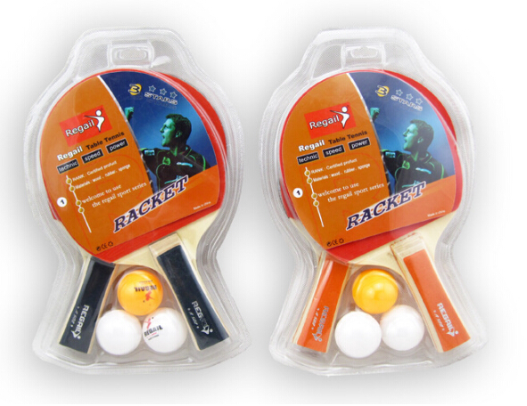 fast and offensive beginner training table tennis bats with three balls high quality and low price(China (Mainland))