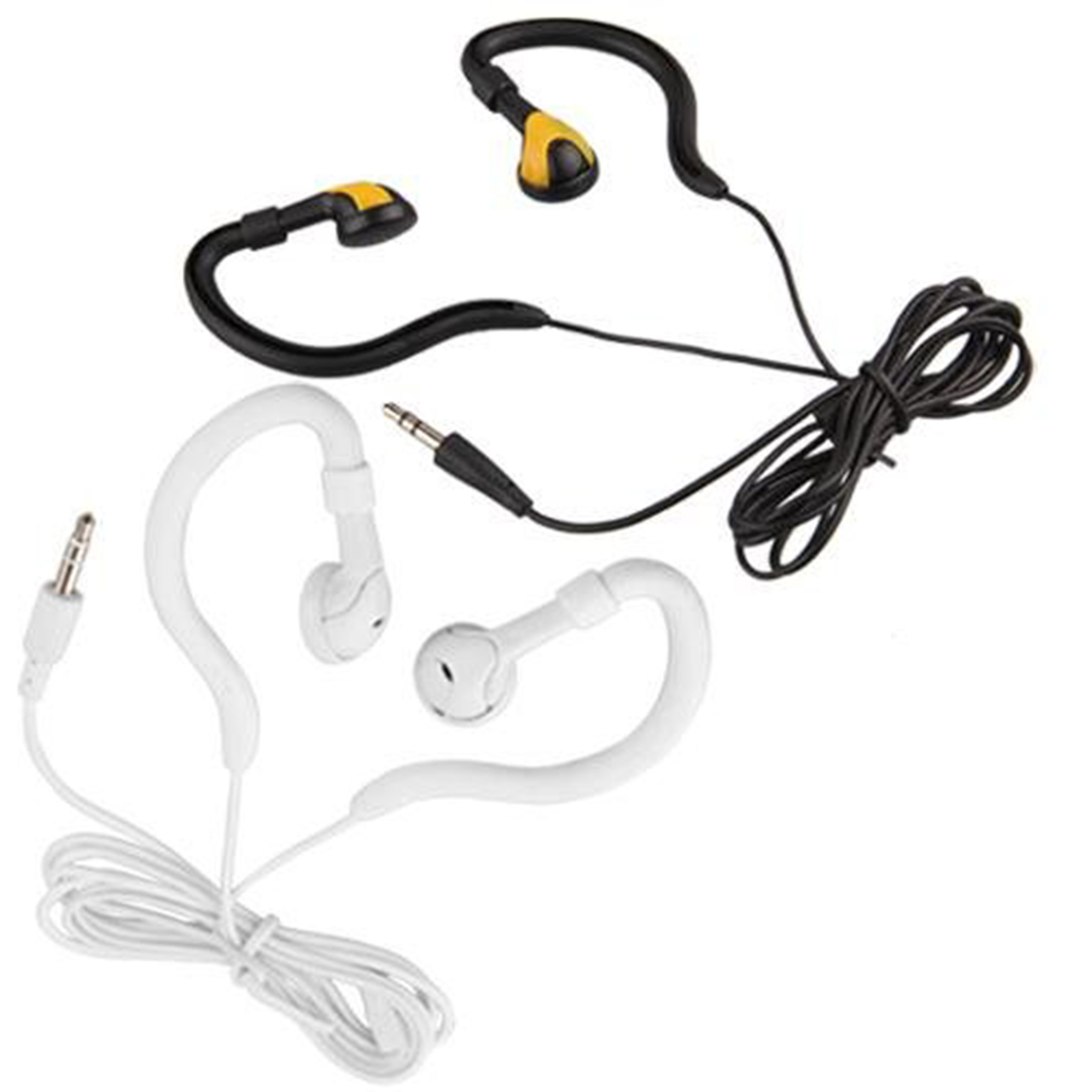 Running Sports Ear Hook 3.5mm Earphone Headphones Headset for MP3 MP4 iPhone 2 Colors Free Shipping