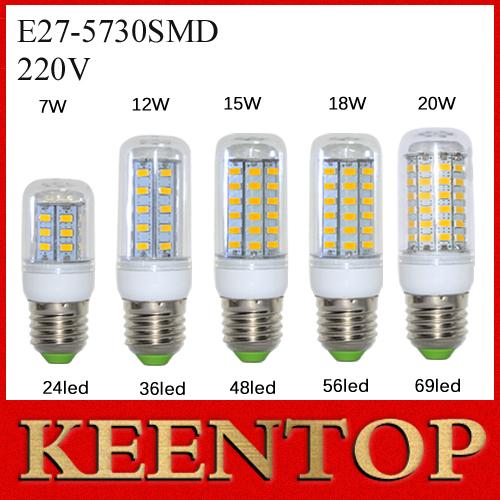 1Pcs E27 LED Bubble Ball Bulb Smd5730 24Led 36Led 48Led 56Led 69Led Corn Light Solar lantern Wall Lamp headlamp Pendant Lighting()
