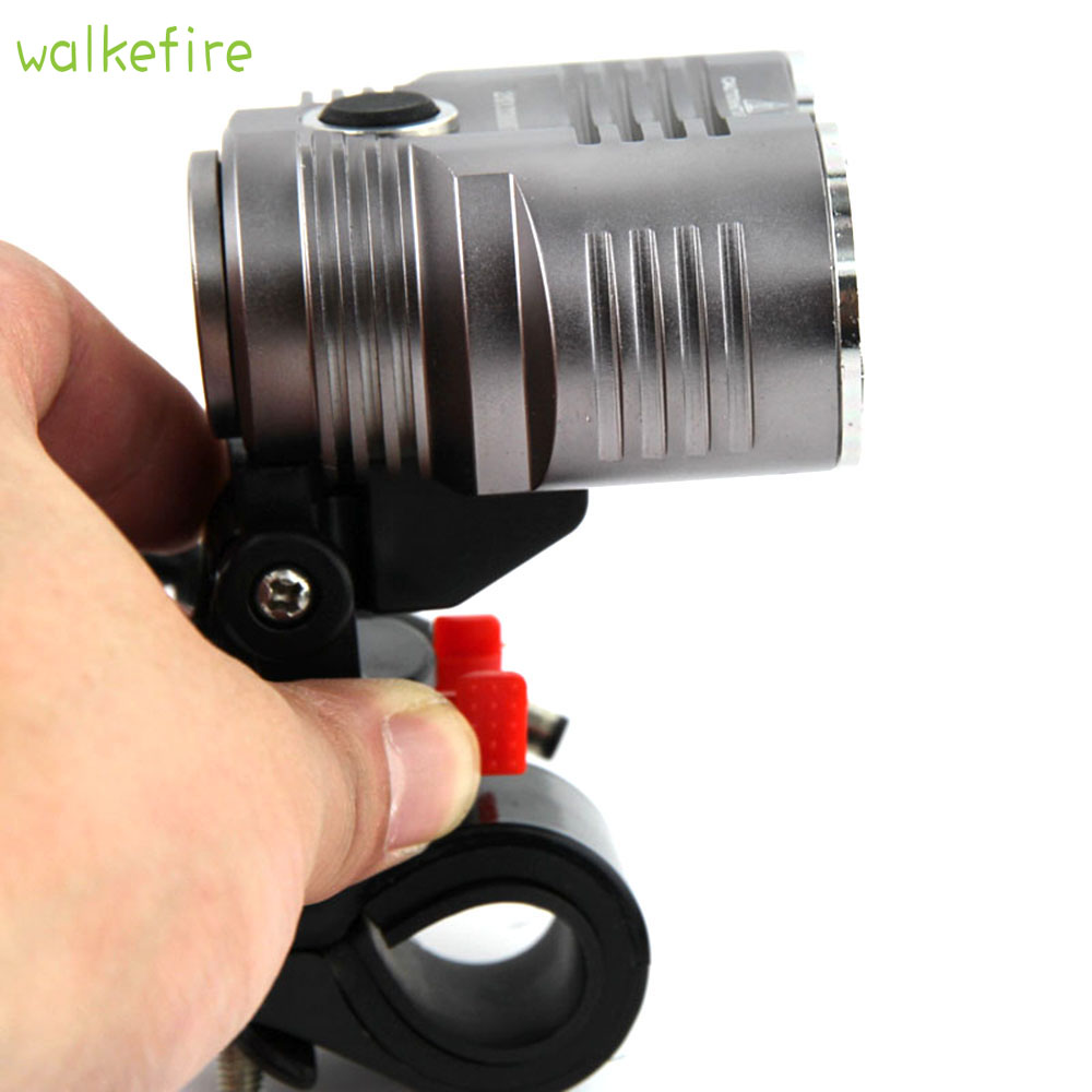 Walkfire Bike Bicycle Front Light 5000 Lumen Headlight Waterpoof Bike Light Lamp Cycling FlashLight XML T6 LED + 6400mAh Battery