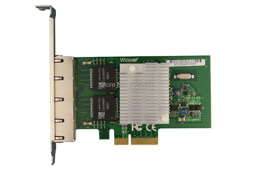 Winyao WY580-T4 PCI-e X4 4-Port Intel 82580 Gigabit Ethernet Network Card Adapter Aggregation Routing Software I340T4 intel82580