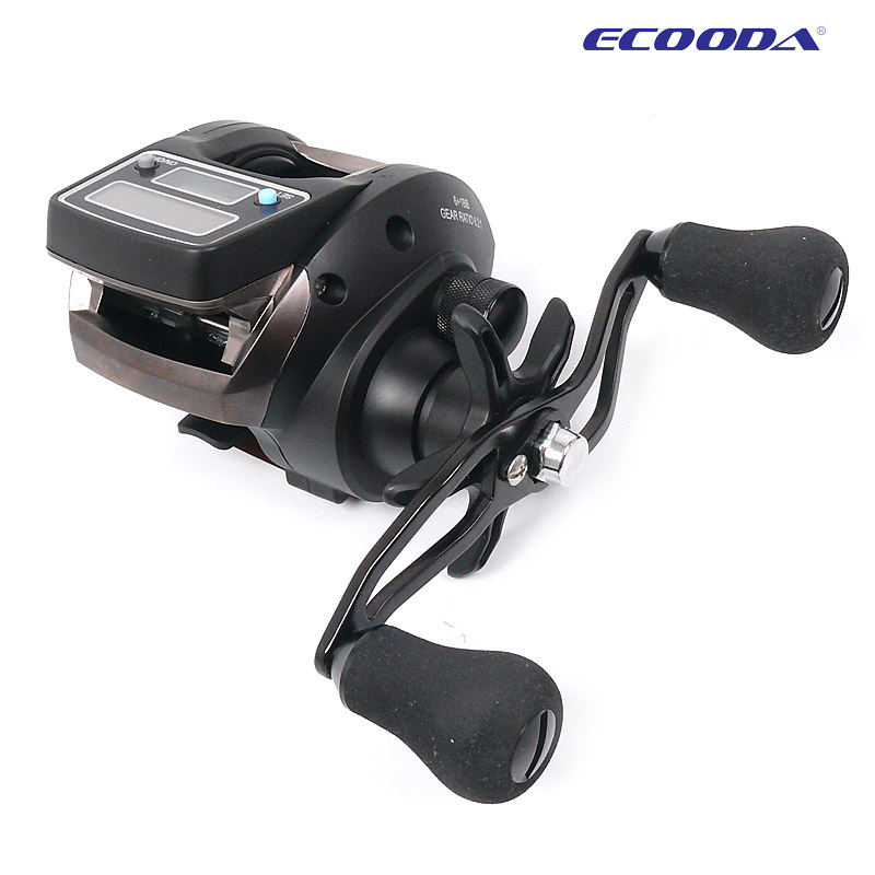 2014 New OFB500 Electronic Digital Display round 7 Ball Bearing Casting Fishing Reel pesca(China (Mainland))