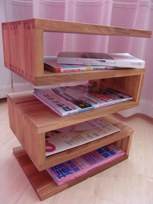 New Solid Wood Furniture End Table Magazine Rack Fashion Shelf Side Table(China (Mainland))