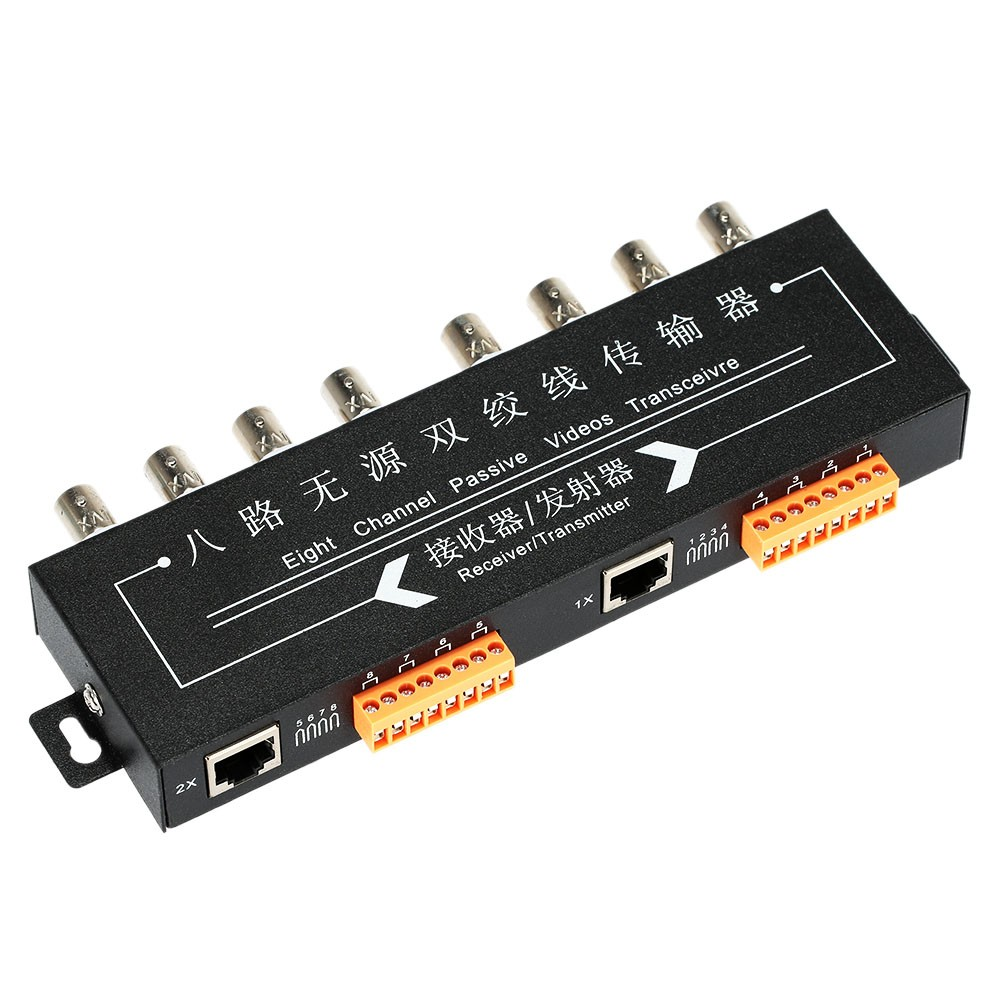 Yumiki 8 Channel Passive UTP Video Balun Transceiver / Receiver CCTV CAT 5/5E/6 twisted pair(China (Mainland))