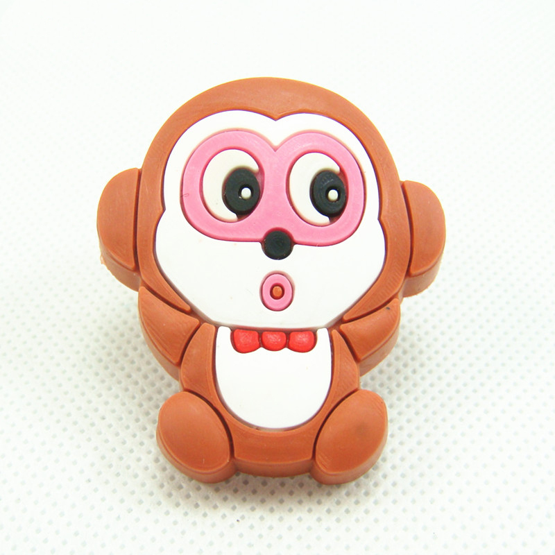 Lovely Monkey Soft Rubber Kids Room Drawer Handles Cabinet Pulls/Knobs Cupboard Door Handles Pulls(China (Mainland))