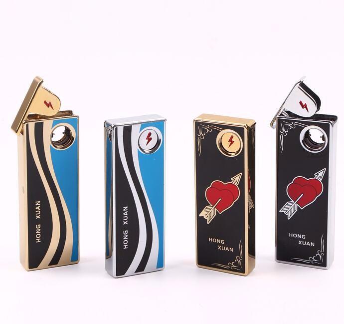 ถูก 1ชิ้นหลายสไตล์บุหรี่อิเล็กทรอนิกส์USBเบาแบบชาร์จFlameless W Indproofเป็นสูบบุหรี่แกดเจ็ตisqueiroของขวัญ