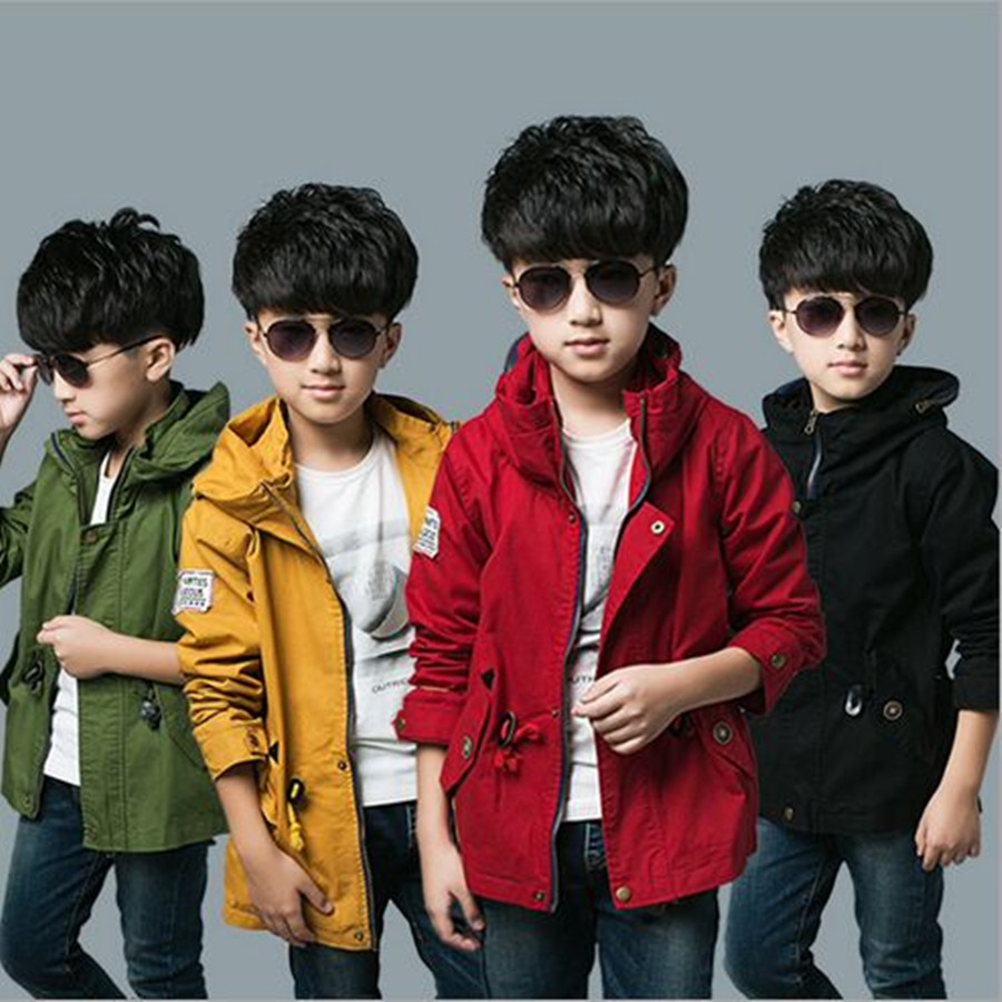 Child Trench Coat Cotton 2016 Fashion Spring Autumn Windbreaker Turtleneck Windproof Trench Coat Outerwear Size130-160<br><br>Aliexpress
