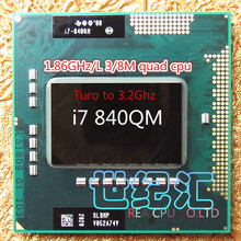 new arrrive core I7 840QM laptop cpu PGA988 Quad core Eight threads 1.86Ghz Turo to 3.2Ghz /l3 8M TDP 45w ,have a i7 920xm sell