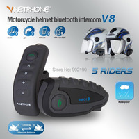 Free shipping New remote control 5 NFC Near Field Communication duplex BT wireless intercom motorcycle helmet bluetooth headset
