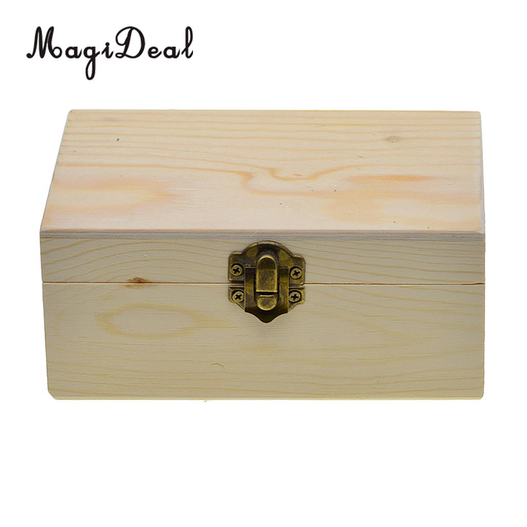 Rectangle Wooden Storage Box Plain Wood Box Jewelry Box Wedding Gift Makeup  Cosmetic Small Gadgets Gift